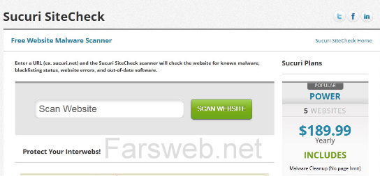 تست امنیت و اسکن آنلاین سایتهای وردپرسی