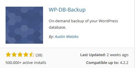 افزونه پشتیبان گیری از دیتابیس وردپرس backup db