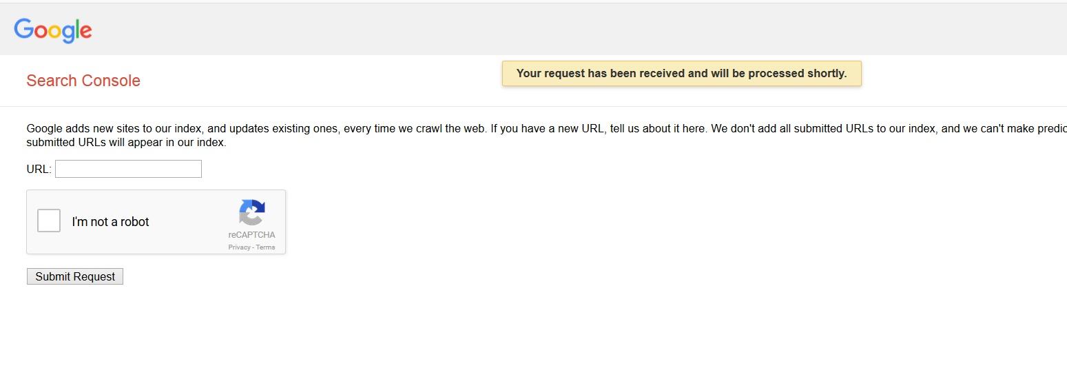 ثبت دستی آدرس سایت یا پست مطلب در گوگل