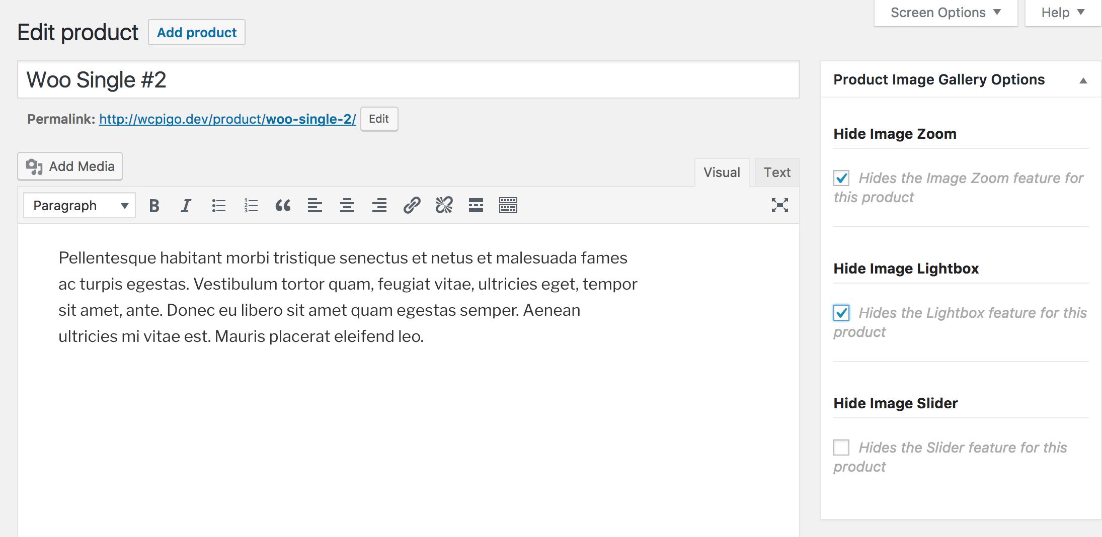 افزونه تنظیمات گالری تصویر ووکامرس